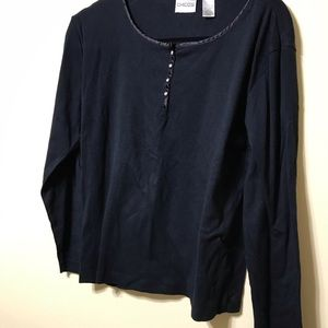 Chico's Navy long sleeve top